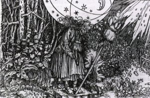 The witch, here depicted by German artist Hans Weiditz (d. 1537) embodied magic, herbal remedies (including birth control), and other qualities that threatened a capitalist order.